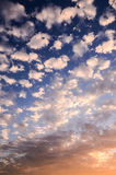 Colored Clouds at Sunset Royalty Free Stock Images