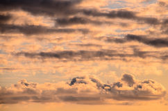 Colored Clouds at Sunset Royalty Free Stock Image