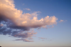 Colored Clouds at Sunset Stock Photos