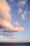 Colored Clouds at Sunset Stock Images