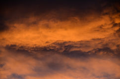 Colored Clouds at Sunset Stock Photography