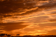Colored Clouds at Sunset Royalty Free Stock Photos