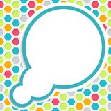 Colored cloudy background Royalty Free Stock Images
