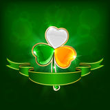Colored clover Royalty Free Stock Images