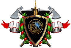 Colored coat of arms Royalty Free Stock Images