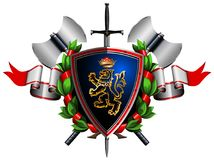 Colored coat of arms Stock Image
