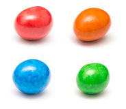 Colored Coated Chocolate Candies Stock Images