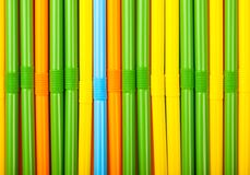 Colored cocktail tubes Stock Images