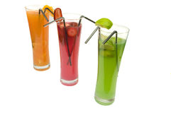 Colored cocktails Stock Image