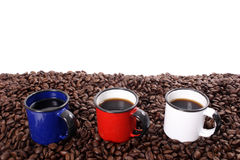 Colored coffee cups Royalty Free Stock Photo