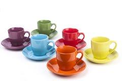 Colored Coffee Mugs Stock Image