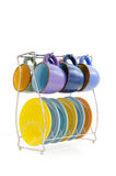 Colored coffee set Royalty Free Stock Images