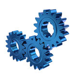 Colored cogs or gears working together Royalty Free Stock Photo