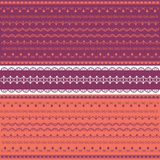 Colored collection of lace. Collection of colored purple lace vector illustration