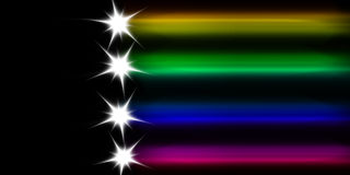 Colored comet. Abstract colored comet on a black background Royalty Free Stock Images