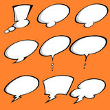 A Colored Comic Speech Bubbles set Stock Image