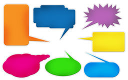 Colored comic text bubbles Stock Photography