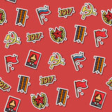 Colored Communism concept icons pattern Royalty Free Stock Photo