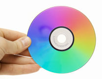 Colored compact disc Royalty Free Stock Images