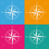 4 Colored Compass Royalty Free Stock Images
