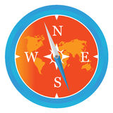 Colored compass icon Stock Photo
