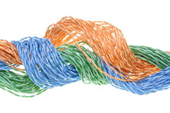 Colored computer cables Royalty Free Stock Images