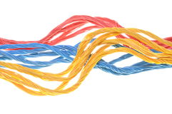 Colored computer cables Stock Photography