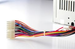 Colored computer wires Stock Photography