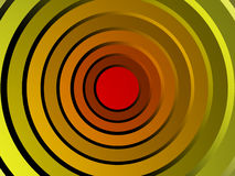 Colored concentric circles made in 3D Royalty Free Stock Photography