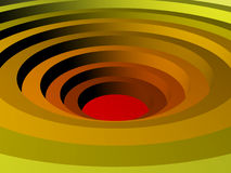 Colored concentric circles made in 3D Royalty Free Stock Images
