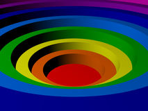 Colored concentric circles made in 3D. Colored concentric circles in the form of a color spectrum made in 3D royalty free illustration