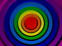 Colored concentric circles made in 3D. Colored concentric circles in the form of a color spectrum made in 3D stock illustration