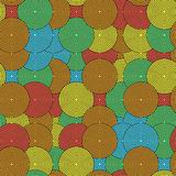 Colored concentric circles Royalty Free Stock Photos