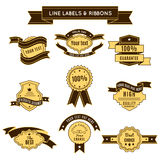 Colored Conceptual Label Set And Ribbons Stock Image