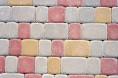 Colored floor bricks Royalty Free Stock Images