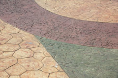Colored concrete paving tile Royalty Free Stock Images