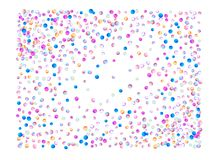 Colored confetti balls, 3d vector illustration