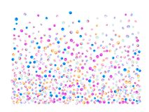 Colored confetti balls, space vector illustration