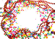 Colored confetti on white Stock Image
