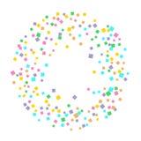 Colored confetti on white. vector illustration