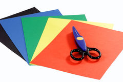 Colored construction paper Stock Photo