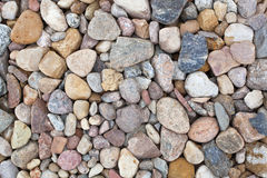 Colored construction pebbles. Stock Photos