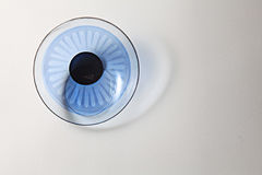 Colored contact lenses. Close up stock photography
