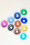 Colored contact lenses Royalty Free Stock Photos
