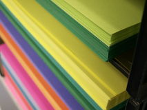 Colored copy paper Royalty Free Stock Photos