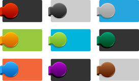 Colored corner elements Royalty Free Stock Images