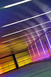 Colored corridor. Multiple colored subway corridor with neon lights Royalty Free Stock Image