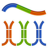 Colored corrugated flexible tubes Royalty Free Stock Photography