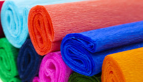 Colored corrugated paper royalty free stock image
