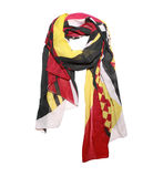 Colored cotton scarf isolate on white Royalty Free Stock Image